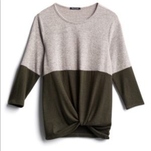 Pink Clover Colorblock Knit Top